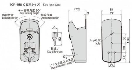 コネクタホルダー 錠前タイプ